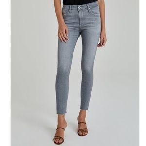 AG Raw Hem Skinny Farrah Light Wash Jeans SZ 27 R